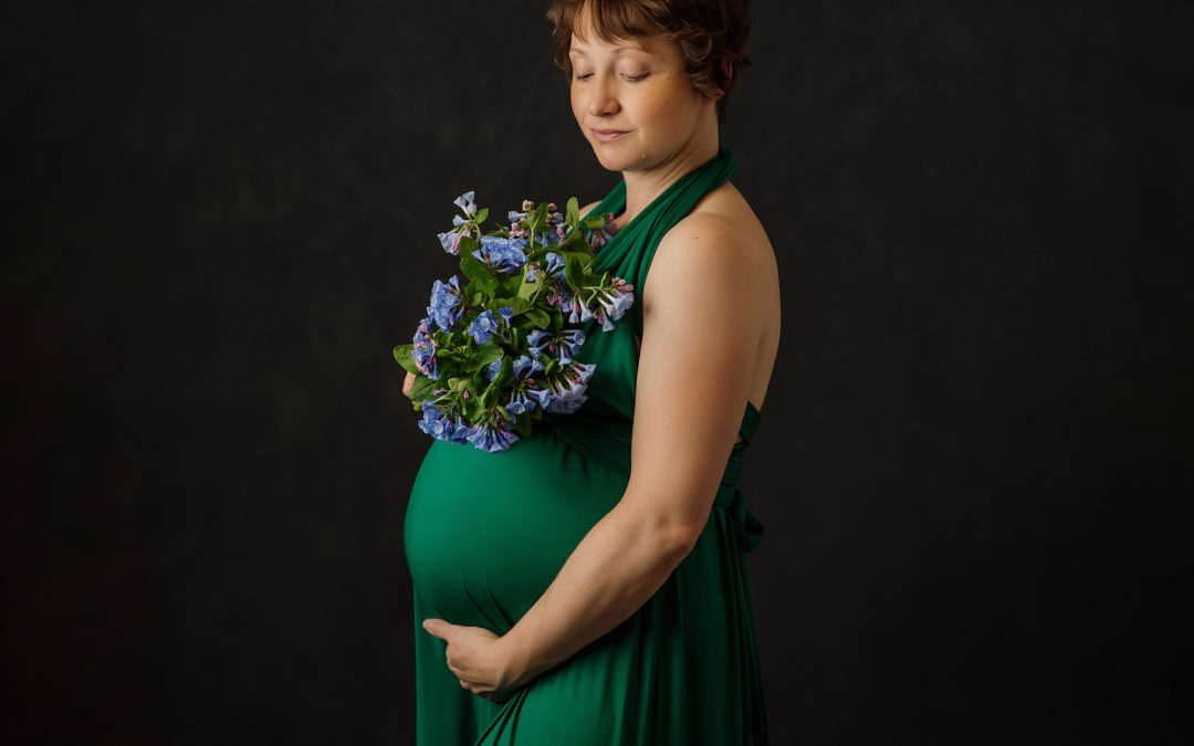 Adrienne's Fine Art Maternity Studio Session | Bloomington Portrait Artist