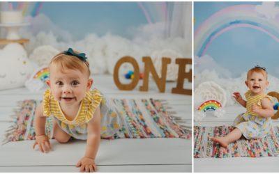 A Rainbow Cake Smash for Lillian