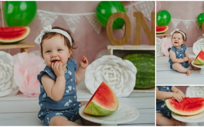 Arden, you're One in a Melon | Bloomington Cake Smash Photographer